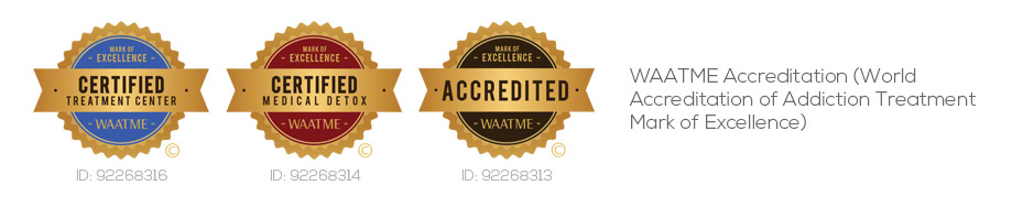 The Scott WAATME Accreditation (World Associasion of Addiction Treatment Mark of Excellence) since 2011